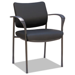 ALERA IV SERIES LEATHER BACK GUEST CHAIRS, 19 5/8 X 19 1/4 X 19 1/4, BK, 2/CT
