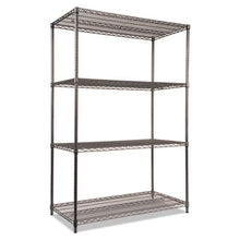Load image into Gallery viewer, Wire Shelving Starter Kit, Four-Shelf, 48w X 24d X 72h, Black Anthracite