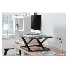 "Load image into Gallery viewer, ADAPTIVERGO ULTRA-SLIM SIT-STAND DESK, 31 1/3"" X 22"" X 15 3/4"", BLACK"