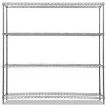 "Load image into Gallery viewer, BA PLUS WIRE SHELVING KIT, 4 SHELVES, 72"" X 18"" X 72"", BLACK ANTHRACITE+"
