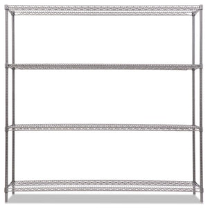 "BA PLUS WIRE SHELVING KIT, 4 SHELVES, 72"" X 18"" X 72"", BLACK ANTHRACITE+"