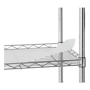 5-SHELF WIRE SHELVING KIT, 36W X 18D X 72H, SILVER