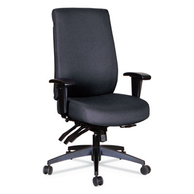 WRIGLEY SERIES 24/7 HIGH PERFORMANCE HIGH-BACK MULTIFUNCTION TASK CHAIR, BLACK
