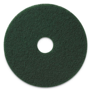 "SCRUBBING PADS, 20"" DIAMETER, GREEN, 5/CT"