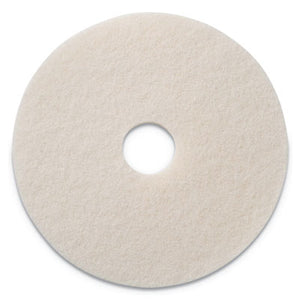 "POLISHING PADS, 19"" DIAMETER, WHITE, 5/CT"