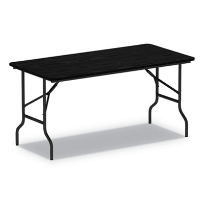 WOOD FOLDING TABLE, 72W X 18D X 29H, BLACK
