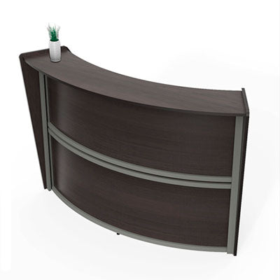 RECEPTION DESK, 72W X 32D X 46H, MOCHA