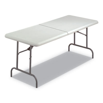 7110016716415, SKILCRAFT BLOW MOLDED FOLDING TABLES, RECTANGULAR, 72 X 30 X 29, PLATINUM