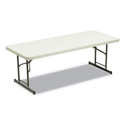 7110016716416, SKILCRAFT BLOW MOLDED FOLDING TABLES, RECTANGULAR, 72 X 30 X 35, PLATINUM