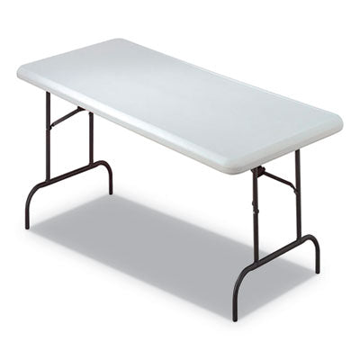 7110016716417, SKILCRAFT BLOW MOLDED FOLDING TABLES, RECTANGULAR, 30 X 60 X 29, PLATINUM