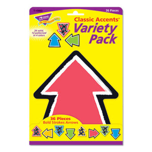 "BOLD STROKES CLASSIC ACCENTS VARIETY PACK, 36 ASSORTED ARROWS, 6"" X 7.88"""