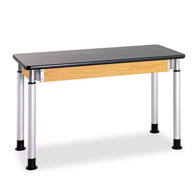 Adjustable-Height Table, Rectangular, 48w X 24d X 42h, Black