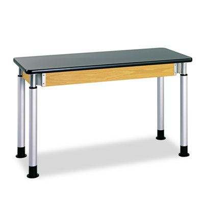 Adjustable-Height Table, Rectangular, 54w X 24d X 42h, Black
