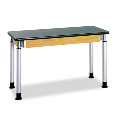 Adjustable-Height Table, Rectangular, 60w X 24d X 42h, Black