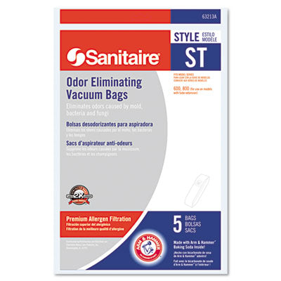 Style St Disposable Vacuum Bags For Sc600 & Sc800 Series, 50/case