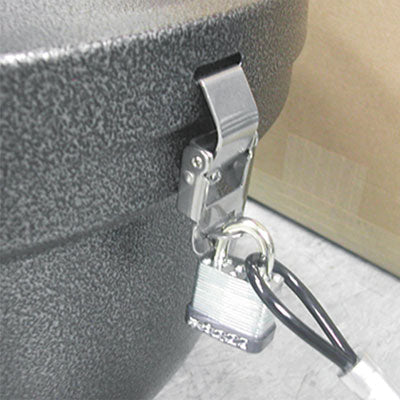 Smokers' Oasis Lock Kit, 48in Plastic-Coated Steel Cable W/lock/key