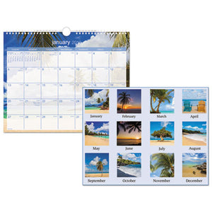 TROPICAL ESCAPE WALL CALENDAR, 15 X 12, 2019