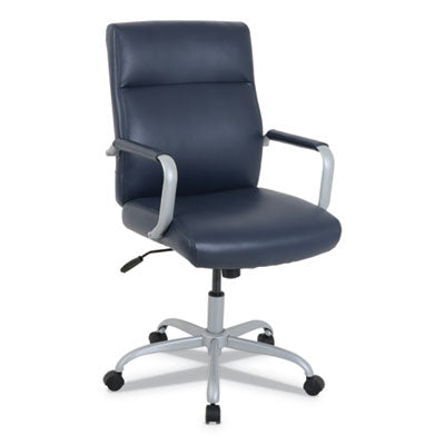 KATHY IRELAND BY ALERA MANITOU SERIES HIGH-BACK LEATHER OFFICE CHAIR, NAVY SEAT