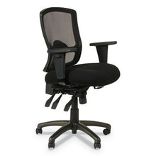 Load image into Gallery viewer, ALERA ETROS SERIES PETITE MID-BACK MULTIFUNCTION MESH CHAIR, BLACK