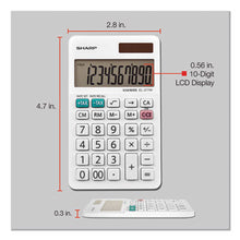 Load image into Gallery viewer, El-377wb Large Pocket Calculator, 10-Digit Lcd