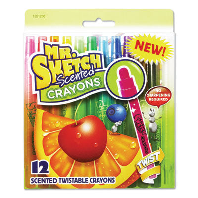 SCENTED CRAYONS, ASSORTED, 12/PACK
