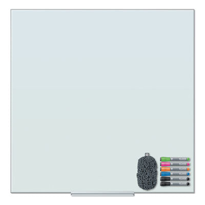 FLOATING GLASS DRY ERASE BOARD, 36 X 36, WHITE