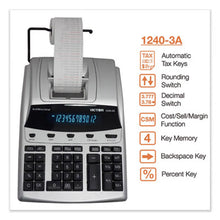 Load image into Gallery viewer, 1240-3a Antimicrobial Printing Calculator, Black/red Print, 4.5 Lines/sec