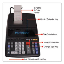 Load image into Gallery viewer, El2196bl Two-Color Printing Calculator, Black/red Print, 3.7 Lines/sec