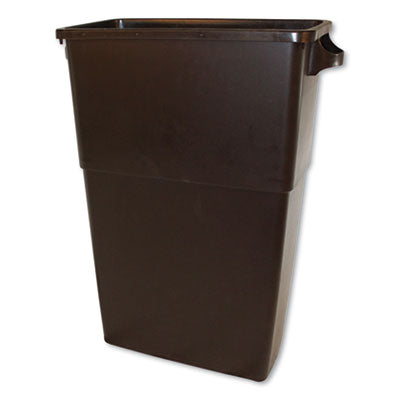THIN BIN CONTAINERS, RECTANGULAR, POLYETHYLENE, 23 GAL, BROWN