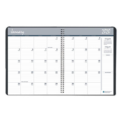 7510016792688, SKILCRAFT MONTHLY PLANNER, 8.75 X 6.88, BLACK COVER, 2020