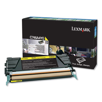 C746A1YG RETURN PROGRAM TONER, 7000 PAGE-YIELD, YELLOW, TAA COMPLIANT