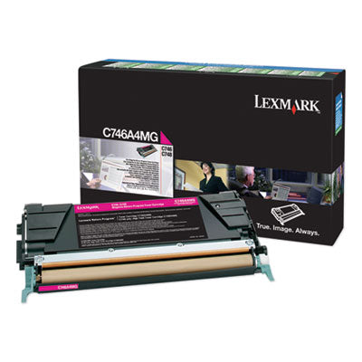 C746A4MG RETURN PROGRAM TONER, 7000 PAGE-YIELD, MAGENTA, TAA COMPLIANT