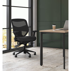 Vl532 Series Mesh High-Back Task Chair, Mesh Back, Padded Mesh Seat, Black