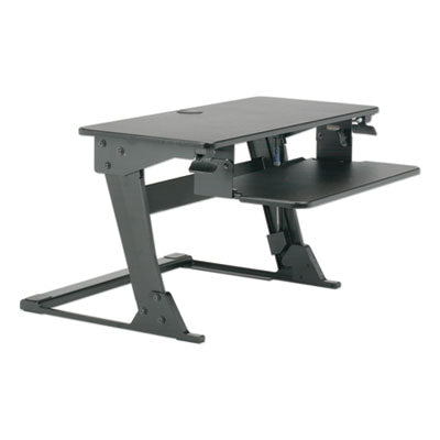 7110016810786 SKILCRAFT DESKTOP SIT-STAND WORKSTATION, 35.4W X 23.2D X 6.2 TO 20H, BLACK