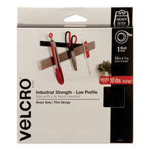 "Load image into Gallery viewer, LOW-PROFILE INDUSTRIAL-STRENGTH HEAVY-DUTY FASTENERS, 1"" X 10 FT, BLACK"