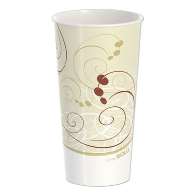DOUBLE SIDED POLY PAPER COLD CUPS, 21 OZ, SYMPHONY DESIGN, 50/PACK, 20 PACKS/CARTON