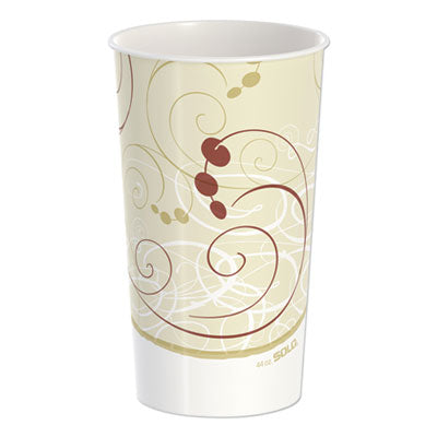 DOUBLE SIDED POLY PAPER COLD CUPS, 44 OZ, SYMPHONY DESIGN, 40/PACK, 12 PACKS/CARTON