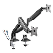 "Load image into Gallery viewer, ADAPTIVERGO HEAVY-DUTY ARTICULATING DUAL MONITOR ARM W/USB & AUDIO, 30"", BLACK"