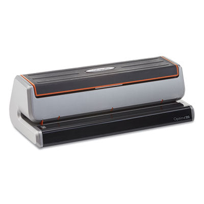 OPTIMA 20 THREE-HOLE ELECTRIC PUNCH, 20-SHEETS, 9/32