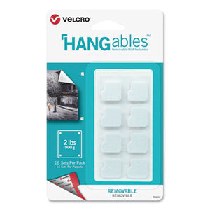 "HANGABLES REMOVABLE WALL FASTENERS, 0.75"" X 0.75"", WHITE, 16/PACK"