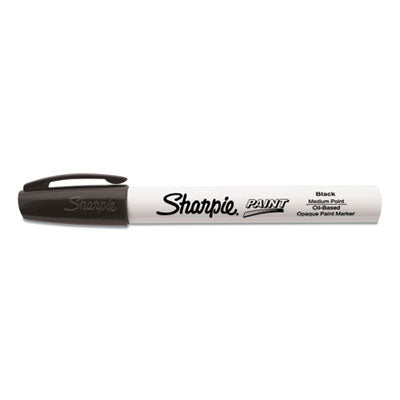 PERMANENT PAINT MARKER, MEDIUM BULLET TIP, BLACK, DOZEN