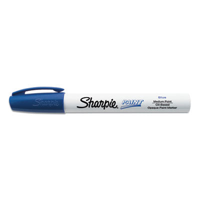 PERMANENT PAINT MARKER, MEDIUM BULLET TIP, BLUE, DOZEN