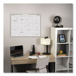 WALLMATES SELF-ADHESIVE DRY ERASE YEARLY CALENDAR, 24 X 18, 2019