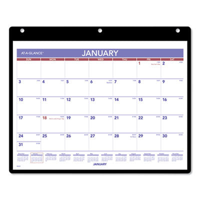 MONTHLY DESK/WALL CALENDAR, 11 X 8 1/4, WHITE, 2019