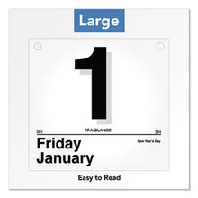 Load image into Gallery viewer, TODAY IS DAILY WALL CALENDAR REFILL, 8 1/2 X 8, WHITE, 2019