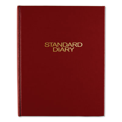 STANDARD DIARY DAILY DIARY, RECYCLED, RED, 7 1/2 X 9 7/16, 2019