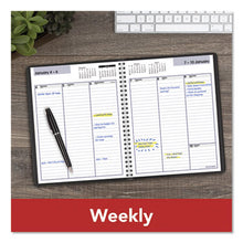Load image into Gallery viewer, WEEKLY PLANNER, 6 7/8 X 8 3/4, BLACK, 2019