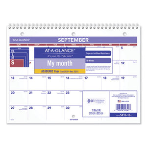 WIREBOUND MONTHLY DESK/WALL CALENDAR, 11 X 8, 2018-2019