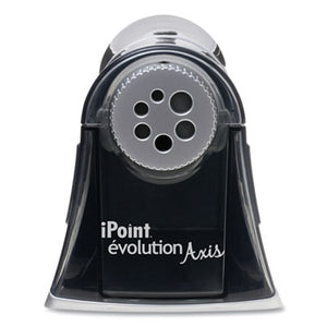 IPOINT EVOLUTION AXIS PENCIL SHARPENER, BLACK/SILVER, 5W X 7 1/2 D X 7 1/4H