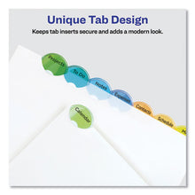 Load image into Gallery viewer, Style Edge Insertable Dividers With Pocket, Multicolor, 8-Tab, 11 1/4 X 9 1/4